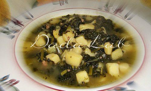 Zuppa di patate con cavolo nero