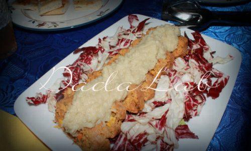 Polpettone di lenticchie e verdure con crema di topinambur