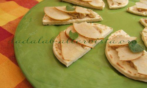 Mezzelune di piadina al gorgonzola