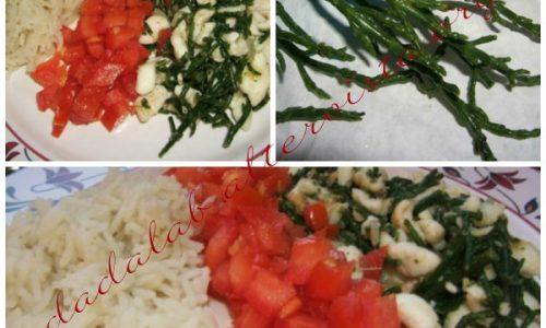 Filetti di sogliola alla salicornia con Basmati e pomodori