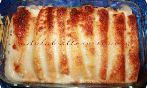 Cannelloni di crepes alla lattuga