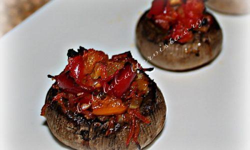 Champignon farciti alle verdure