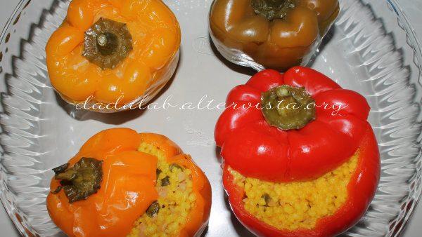 Peperoni ripieni di cous-cous