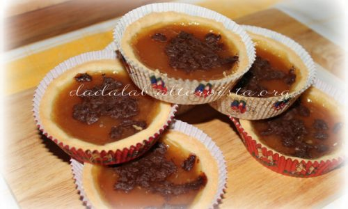 Crostatine con confettura di pere e cioccolato