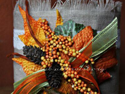 Riciclo barattoli: decorazione autunno