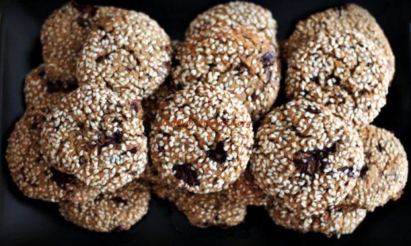 Biscotti tahini al cioccolato