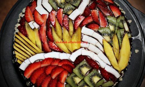 Torta geometrica alla frutta