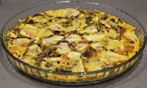 Frittata con verdure e Brie al microonde